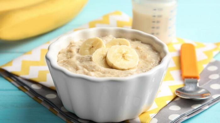Рецепт овсяной каши с бананом для детей