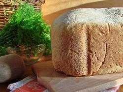 Ржаной хлеб с укропом (рецепт)