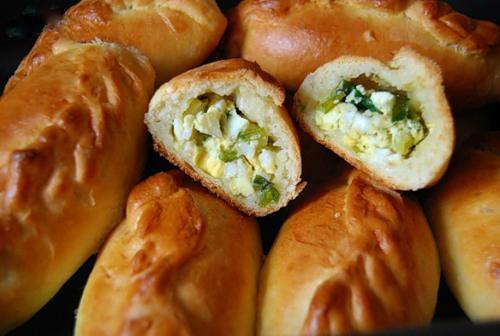 Пироги с луком и яйцом в духовке пошаговый рецепт с фото
