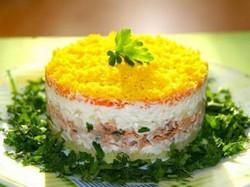Салат мимоза с картошкой (рецепт)