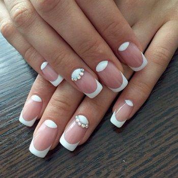 Дизайн нарощенных ногтей фото френч